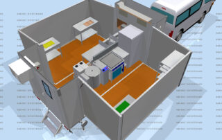 Kitchen layout for festivals