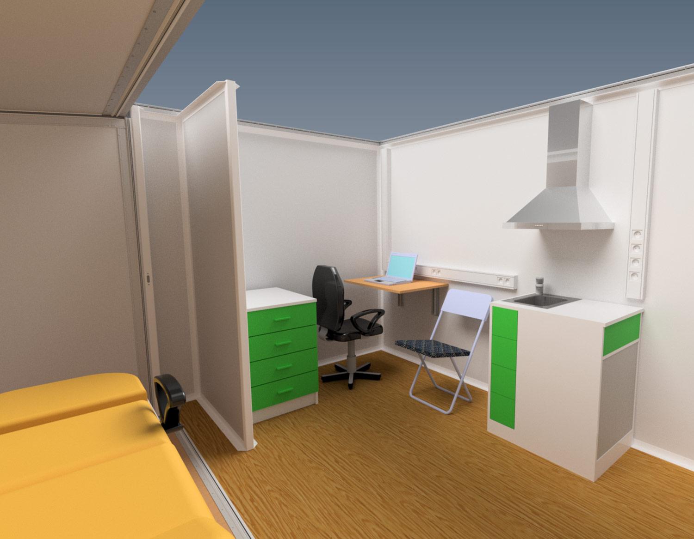 Mobile doctor's office 2 in 1 B cat van